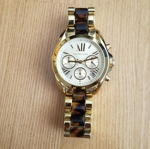 Michael Kors Gold Watch with tortoise accent